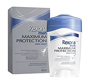 Rexona Maximum Protection Clean Scent 45ml - desodorantes (Hombres, Antitranspirante, Desodorante en barra)