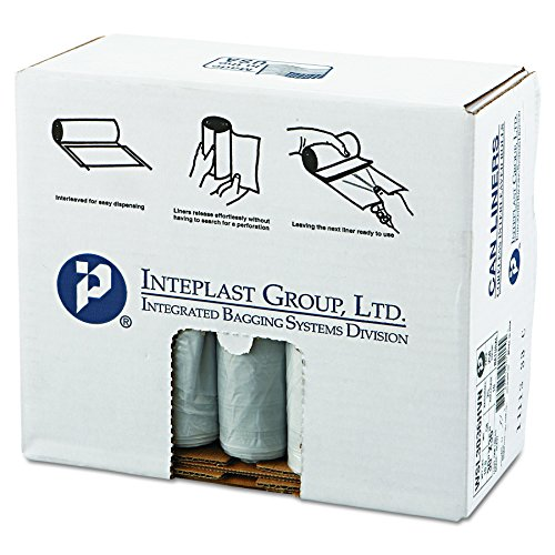 Inteplast Group SL3036HVN Low-Density Can Liner, 30 x 36, 30gal.58mil, Clear, Roll of 50 (Case of 10 (Low Density Clear Liners)