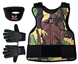 zephyr chest protector - Maddog Sports Padded Chest Protector, Full Finger Tactical Glove, & Neck Protector Combo Package - Camo - Large / X-Large