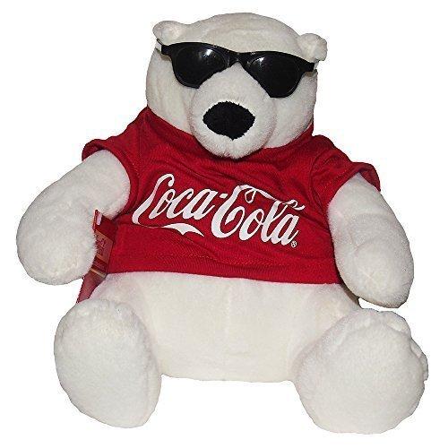 Coca-Cola Coke Bear Collectible Plush With Sunglasses by - Cola Coca Sunglasses