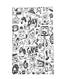 Interestlee Fleece Throw Blanket Video Games Black and White Sketch Style Gaming Design Racing Monitor Device Gadget Teen 90s Blak White