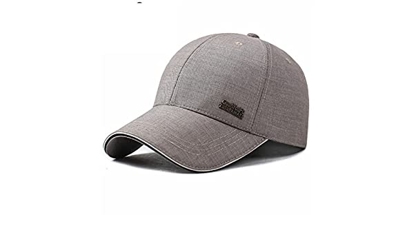 dd3a8502e72 Amazon.com  Donna Pierce Stylish Spring Adjustable Cotton Fitted Baseball  Caps Male Simple Black Formal Snapback Dad Hat Fashion Breathable Truck Hats  light ...