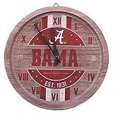 FOCO Alabama Crimson Tide NCAA Barrel Wall Clock
