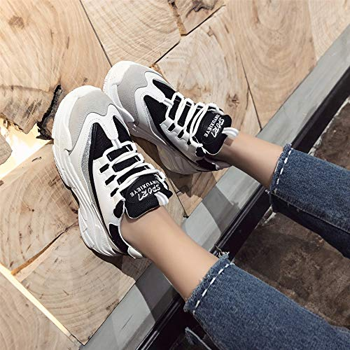 5 Shoes Shoes Boots Flats Round White Med Size Strap Letters Shoes Leisure Women Lace Casual Tied BaZhaHei Up Platform Sports 2 Black Heels Cross Ankle Trainers Women Wild Black Sneakers Toe 8 amp; xwXgA6R