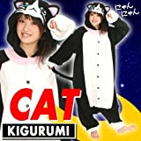 Black Cat Kigurumi - Adult Halloween Costume