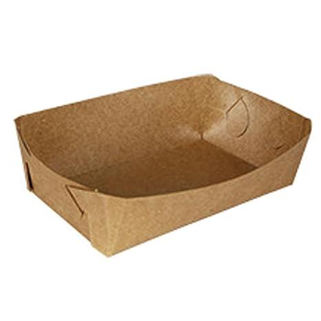 Yves25Tate Papel kraft bricolaje bandeja de comida de papel desechable forma de barco maíz caliente bandeja