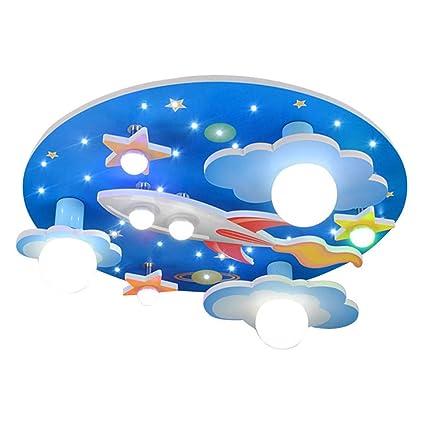 COCOL Lámpara de Techo en el Cuarto de niños Universo Estrellas habitación niños lámpara de Techo con LED luz Blanca Entorno Dormitorio para niños y ...
