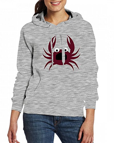 Qingdaodeyangguo Hoodie Custom Fleece Womens Grey Crab Sweartshirts qqRrU