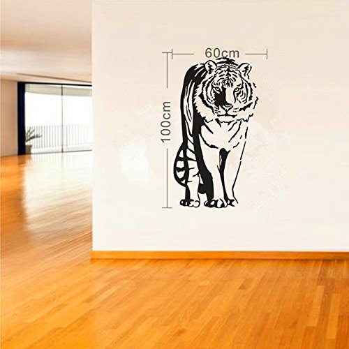 Olivia Large Black Tiger Wall Sticker Decals Wild Animal ...