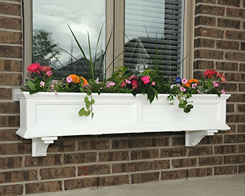 Mayne Fairfield 60 Window Box Combo with Corbel Brackets – White 5