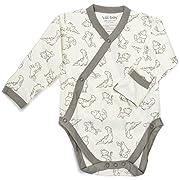 WILD BABY Organic Cotton Baby Kimono Bodysuit by (0-3 Months)