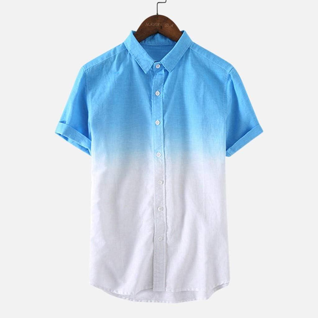 Camisetas Hombre Camisas de Manga Corta con Cuello Redondo y Estampado Smiley Tops de Verano Elegante Polos de BáSica Camiseta para Hombres Diario 3XL: Amazon.es: Ropa y accesorios