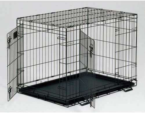 MidWest Homes for Pets Life Stages Fold Carry Double-Door Dog Crate Size X-Large – 48 L x 30 W x 33 H
