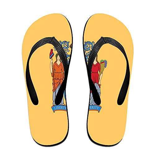 Flag Of New Jersey Cool Flip Flops For Children Adults Men And Women Beach Sandals Pool Party Slippers