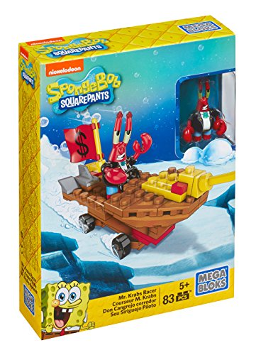 Mega Bloks SpongeBob SquarePants Mr. Krabs Racer Playset