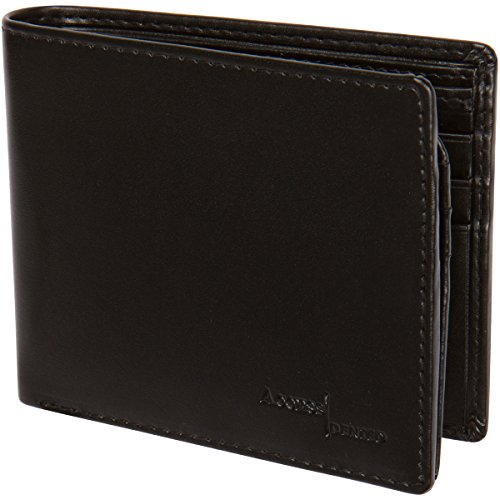 Access Denied Mens RFID Blocking Wallet Secure Bi-Fold Black Faux Leather-Black (Gift Card Electonic compare prices)