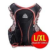 POJNGSN Hydration Pack Backpack Rucksack Bag Vest Harness Water Bladder Hiking Camping Running Race Sports 5L LXL