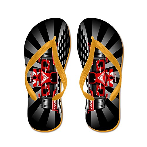 CafePress - Formula 1 Red Race Car - Flip Flops, Funny Thong Sandals, Beach Sandals ()