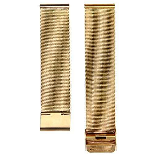 Stainless Steel Watch Band, GOTD 20mm Mesh Wrist Watch Band Strap Milanese Bracelets Replacement Gold