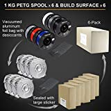 OVERTURE PETG Filament 1.75mm with 3D Build Surface 200 x 200 mm 3D Printer Consumables, 1kg Spool (2.2lbs), Dimensional Accuracy +/- 0.05 mm, Fit Most FDM Printer