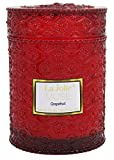 #10: Wood Wicks Candle 21 Ounce Apple Grapefruit Scented, 100% Soy Wax, Red Glass Jar, Valentines Day Gifts for Her