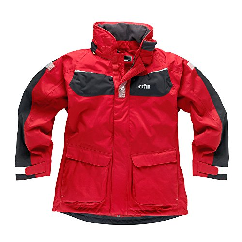 Gill Men's Coast Jacket Red/Graphite IN12J Sizes- - Small