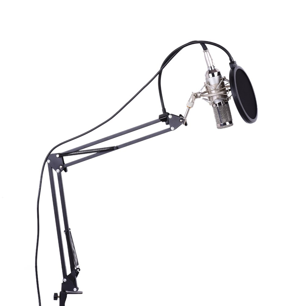 ammoon Studio Broadcasting Recording Condenser Microphone Mic Kit Set