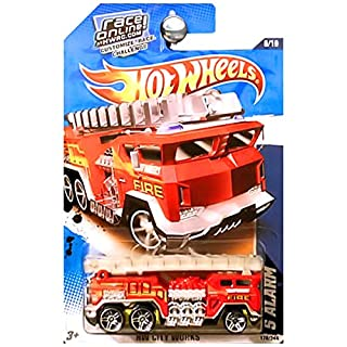 Hot Wheels 2011 5 Alarm Fire Truck HW City Works 178/244 RED
