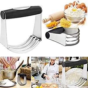 Accmor Stainless Steel Pastry Blender and Cutter Set with Blades