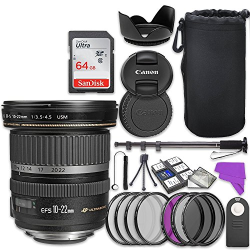 Canon EF-S 10-22mm f/3.5-4.5 USM Lens Bundle with Accessory