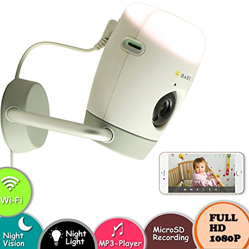 Titathink BABE 1080P Smart Wireless Wi-Fi Baby Monitor and Home Camera, 2-way Talking, Night light, Night Vision, MP3 player, MicroSD recording Free App (Apple/Android)