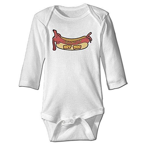 yog-milk-hot-dog-infant-babys-romper-long-sleeve-jumpsuit-climb-clothes