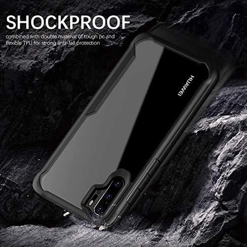 ORETECH Coque pour Huawei P30 Pro, Coque pour Huawei P30 Pro Housse Antichoc TPU Silicone Gel et Couvercle Arrière Transparent Bumper Coque Housse ...