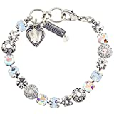 Mariana Bracelet, On A Clear Day'' Silver Plated with Moonlight Crystal, 8'' 4044 001