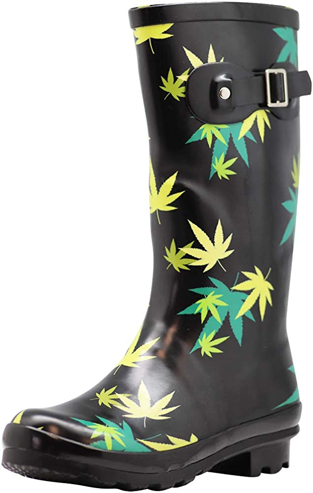 NORTY Women's Hurricane Wellie - Solids and Prints - Glossy & Matte Waterproof Mid-Calf Rainboots