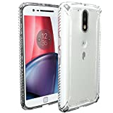 Moto G4 / Moto G4 Plus Case, POETIC Affinity Series Premium Thin/No Bulk/Clear/Dual Material Protective Bumper Case for Motorola Moto G4 / Moto G4 Plus (2016) Frosted Clear/Clear