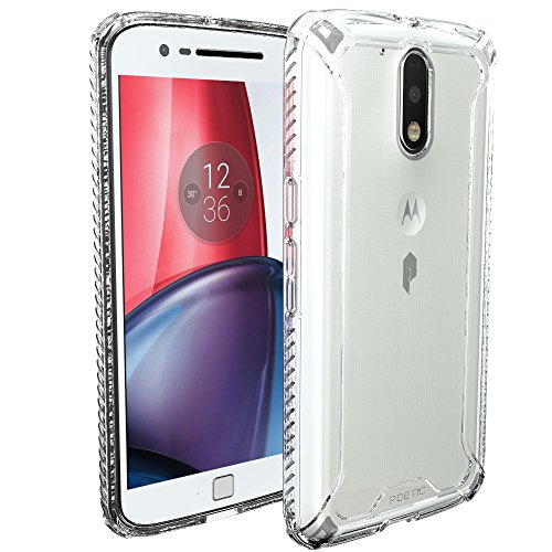 Moto G4 / Moto G4 Plus Case, POETIC Affinity Series Premium Thin/No Bulk/Clear/Dual Material Protective Bumper Case for Motorola Moto G4 / Moto G4 Plus (2016) Frosted Clear/Clear (Best Moto G4 Cases)