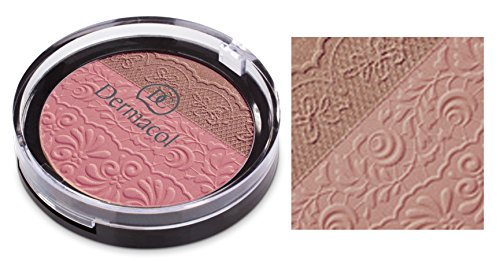 Dermacol DUO BLUSHER - Two shade Powder Blusher in Combination of Matte Appearance and Brightening Shades (No.1) ()
