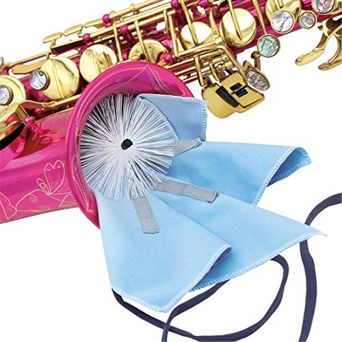 【Christmas Best Gift】OriGlam Micro Musical Products Saxophone Swab Cleaning Kit with Brush & Weighted Cord