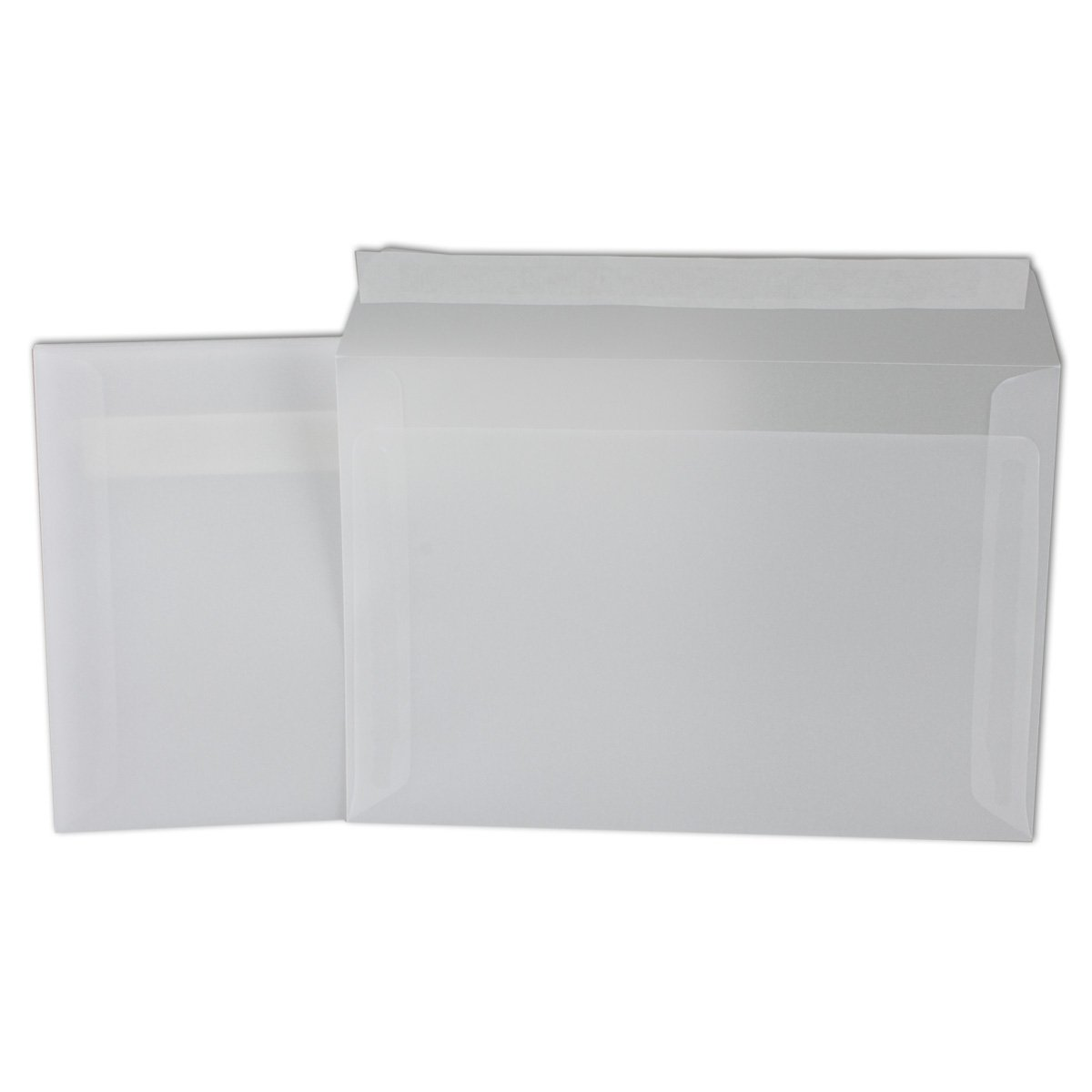 formato DIN C6: 11,4/x 16,2/cm 92/g//m/² 25 Umschl/äge Bianco//Trasparente chiusura adesiva Buste trasparenti colore bianco