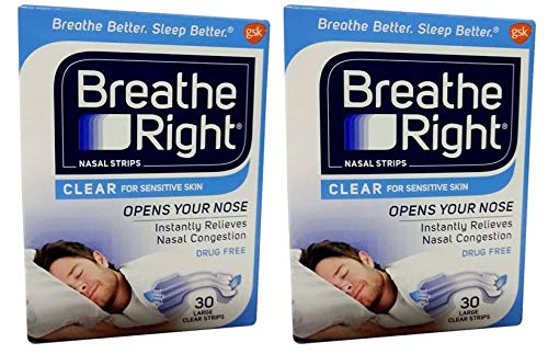 Breathe Right Nasal Strips Clear Large - 30 Strips-2 Count