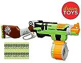 (US) Nerf Gun Rifle - Nerf Zombie Strike SlingFire Blaster Rifle Gun with 25 Dart Drum and 31 Darts Exclusive Limited Edition with Nerf Zombie Strike Dart Refill Pack Bundle of 2 Items