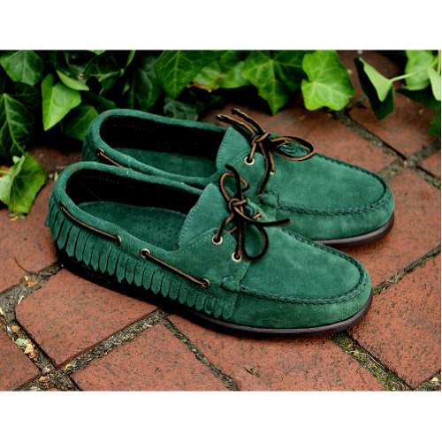 (Sebago Mens Casual Slip On Shoes Size 8 M B10140 Mohican Green Suede)