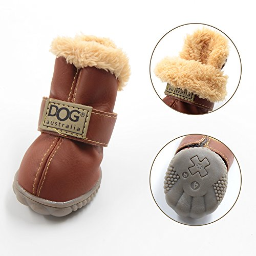 ... WINSOON Dog Australia Boots Pet Antiskid Shoes Winter Warm Skidproof  Sneakers Paw Protectors 4-pcs ... 12af7b3295f7