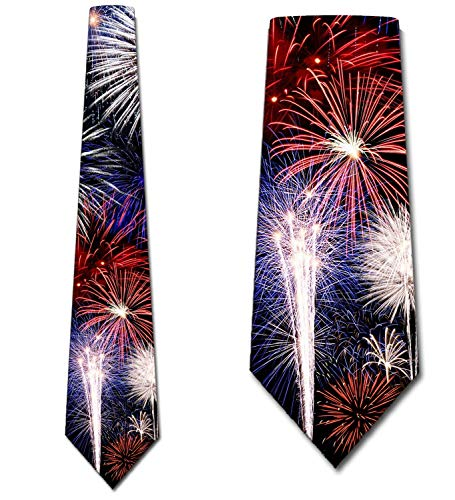 Fireworks Necktie 4th of July Ties by Three Rooker