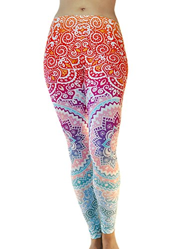 Comfy Yoga Pants - Workout Capris - High Waisted Workout Leggings For Women - Lightweight Printed Yoga Leggings