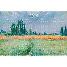 Claude Monet Wheatfield French Impressionist Painter Painting Landscape Artist 2016 Calendar 12x18