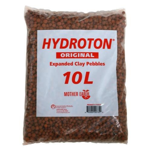 Hydroton Clay Pellets - Hydroton Original Clay Pebbles - 10 Liter | Lightweight Expanded Clay Aggregate Made in Germany