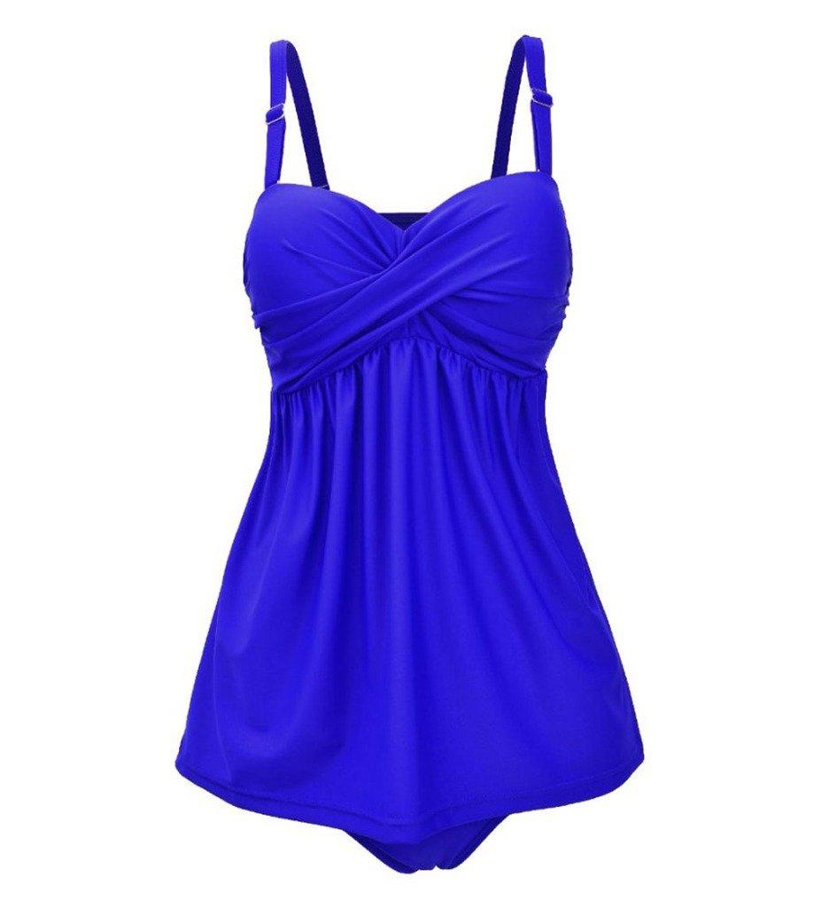 Papaya Wear Two Piece Tankini Push Up Swimwear Bathing Suit for Women PW16B9003