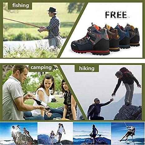 LanLan Grosses Soldes Hommes Chaussures de randonn/ée Chaussures en Cuir imperm/éables Chaussures descalade et de p/êche Chaussures de Plein air Dark Orange 41